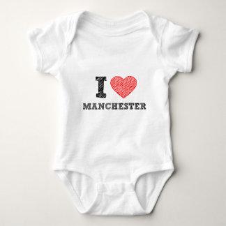 I-love-Manchester Baby Bodysuit
