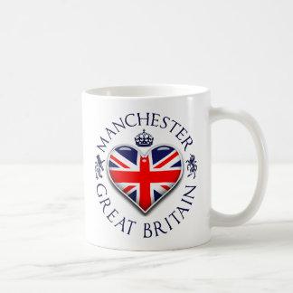 I Love Manchester Basic White Mug