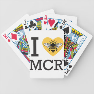 I love Manchester Bee (I love MCR) Bicycle Playing Cards