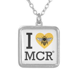 I love Manchester Bee (I love MCR) Silver Plated Necklace