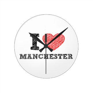 I-love-Manchester Wallclocks
