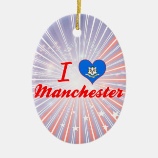 I Love Manchester, Connecticut Ornaments