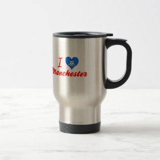 I Love Manchester, Connecticut Mugs