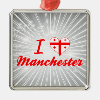 I Love Manchester, Georgia Christmas Ornament