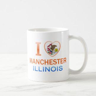 I Love Manchester, IL Coffee Mugs