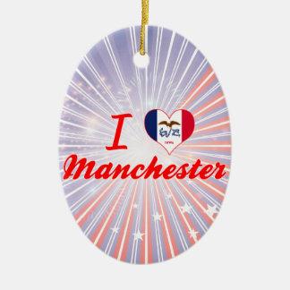 I Love Manchester, Iowa Ornaments