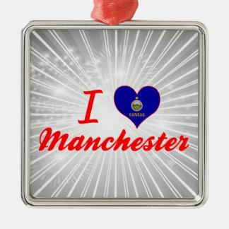 I Love Manchester, Kansas Ornaments