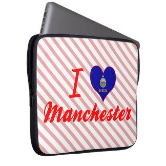 I Love Manchester, Kansas Laptop Computer Sleeve