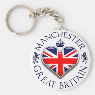 I Love Manchester Key Ring