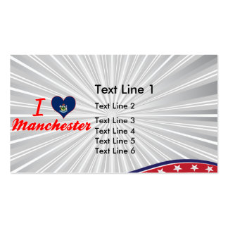 I Love Manchester, Maine Business Card Template