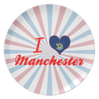 I Love Manchester, Maine Party Plate