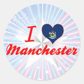 I Love Manchester, Maine Round Stickers