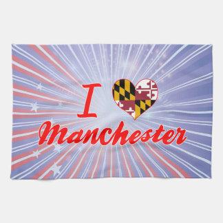 I Love Manchester, Maryland Kitchen Towel