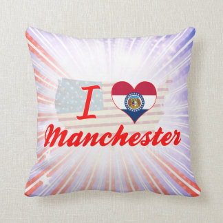 I Love Manchester, Missouri Pillow