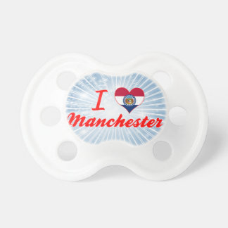 I Love Manchester, Missouri Baby Pacifier