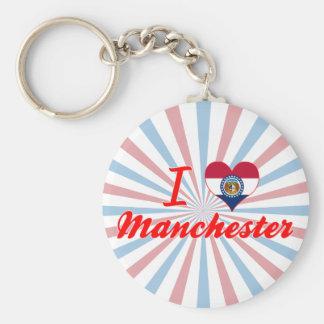 I Love Manchester, Missouri Key Chains