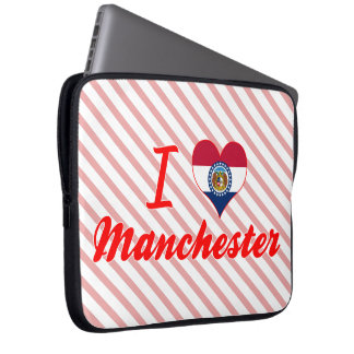 I Love Manchester, Missouri Laptop Computer Sleeve