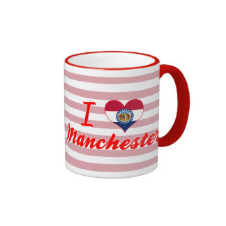 I Love Manchester, Missouri Coffee Mugs