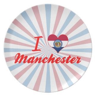 I Love Manchester, Missouri Plate