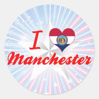 I Love Manchester, Missouri Sticker
