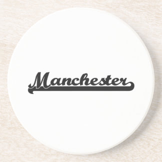 I love Manchester New Hampshire Classic Design Drink Coaster