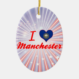 I Love Manchester, New Hampshire Ornaments