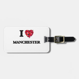 I love Manchester New Hampshire Travel Bag Tag