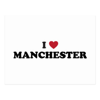 I Love Manchester New Hampshire Postcard