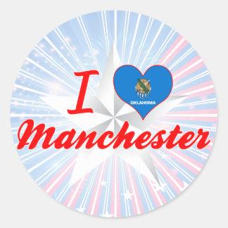 I Love Manchester, Oklahoma Sticker