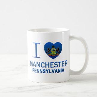 I Love Manchester, PA Coffee Mugs
