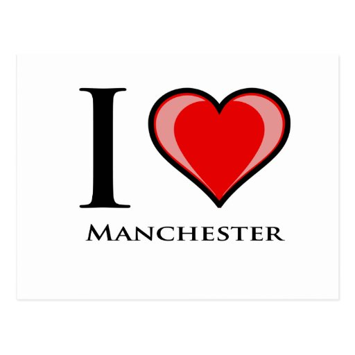 I Love Manchester Postcards
