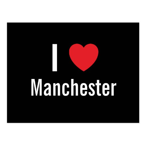 I love Manchester Post Cards