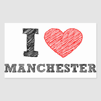 I-love-Manchester Rectangular Sticker