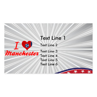 I Love Manchester, Tennessee Business Card Templates