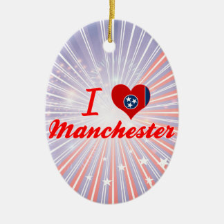 I Love Manchester, Tennessee Ornament