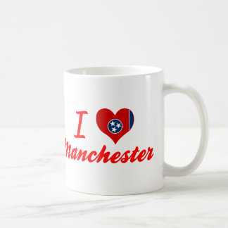 I Love Manchester, Tennessee Coffee Mugs
