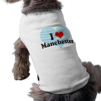 I Love Manchester, United Kingdom Sleeveless Dog Shirt