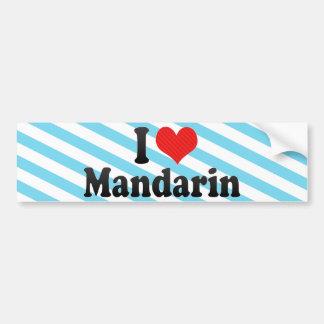 I Love Mandarin Bumper Sticker