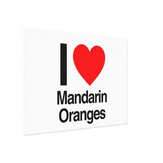i love mandarin oranges stretched canvas print