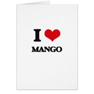 I Love Mango Card