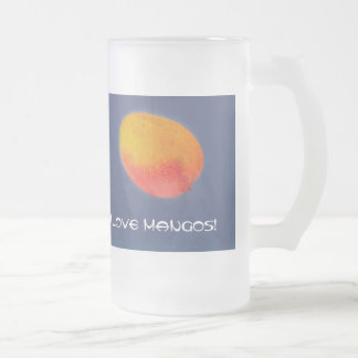 I Love Mangoes Frosted Glass Beer Mug