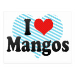 I Love Mangos Post Card