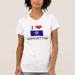 I Love MANHATTAN Kansas Tee Shirt