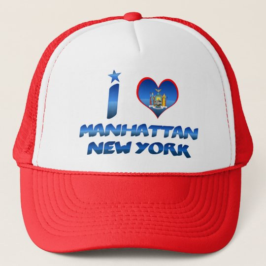 I love Manhattan, New York Trucker Hat
