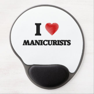 I love Manicurists (Heart made from words) Gel Mouse Pad