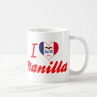 I Love Manilla, Iowa Basic White Mug