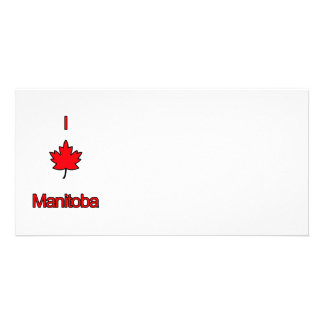 I Love Manitoba Custom Photo Card