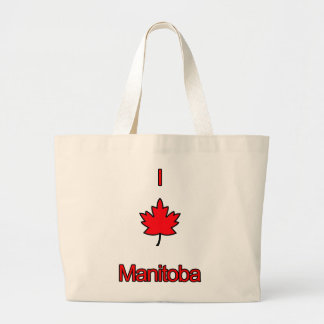 I Love Manitoba Tote Bags
