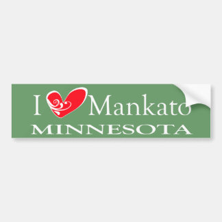 I Love Mankato Minnesota Bumper Sticker