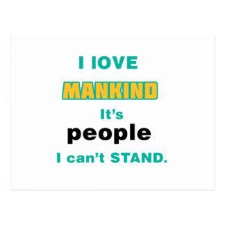 I love Mankind Postcards